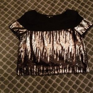 Abby Lee Miller Sequin Shirt Sz L